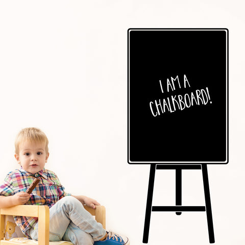 Easel Chalkboard Wall Sticker