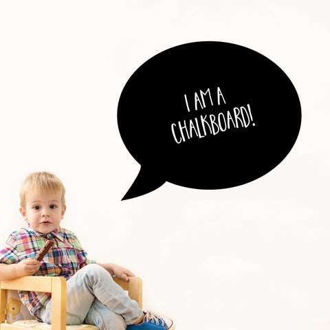 Speech Bubble Chalkboard Wall Sticker