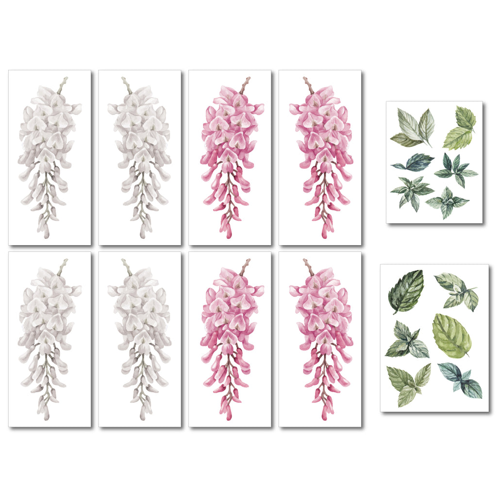 Pink Wisteria Wall Sticker Pack