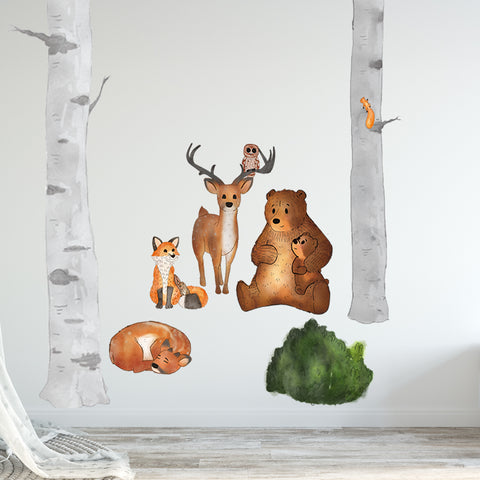 Woodland Nursery Collection Wall Sticker