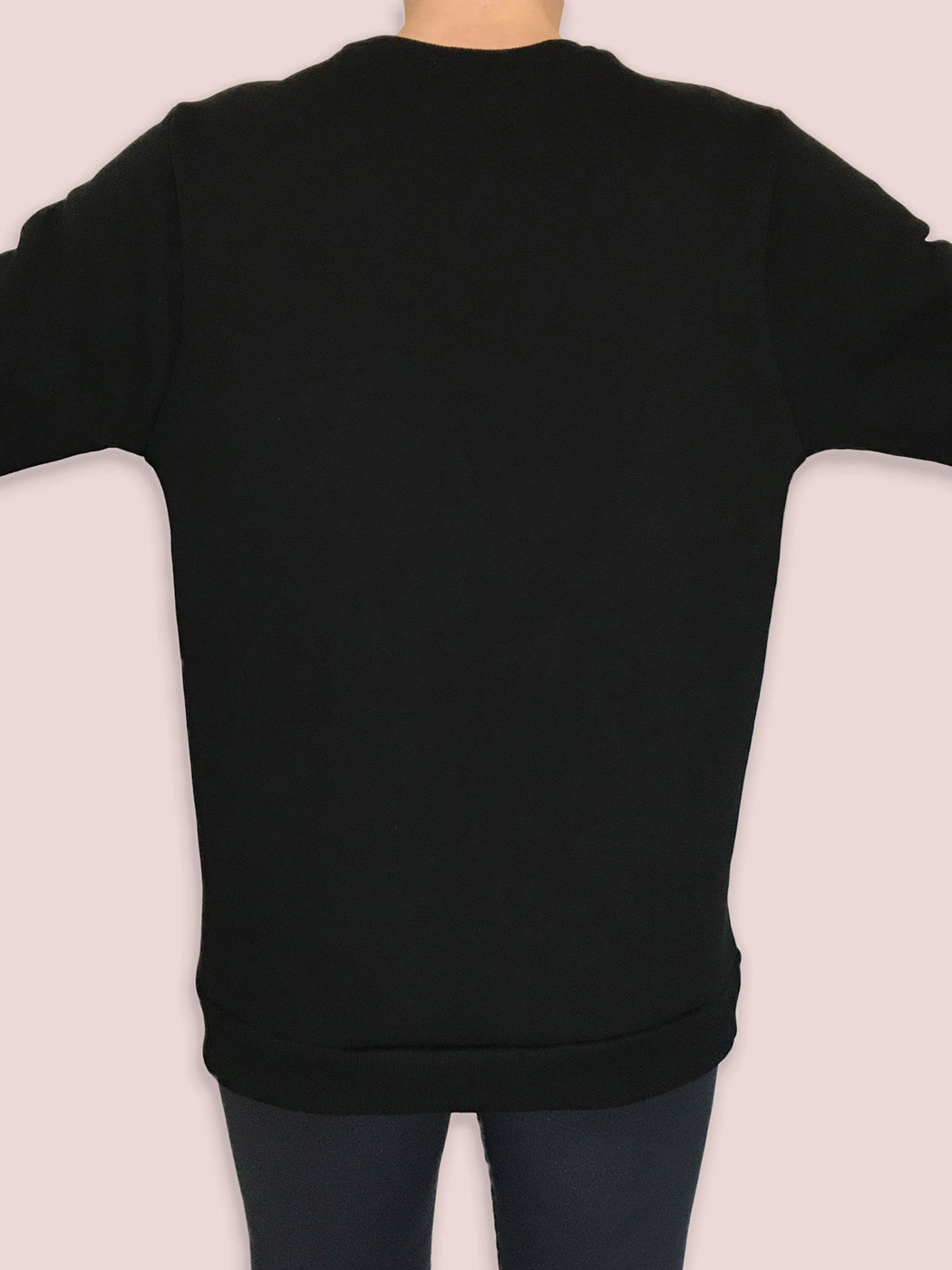 No Gods No Masters logo sweatshirt wide back black