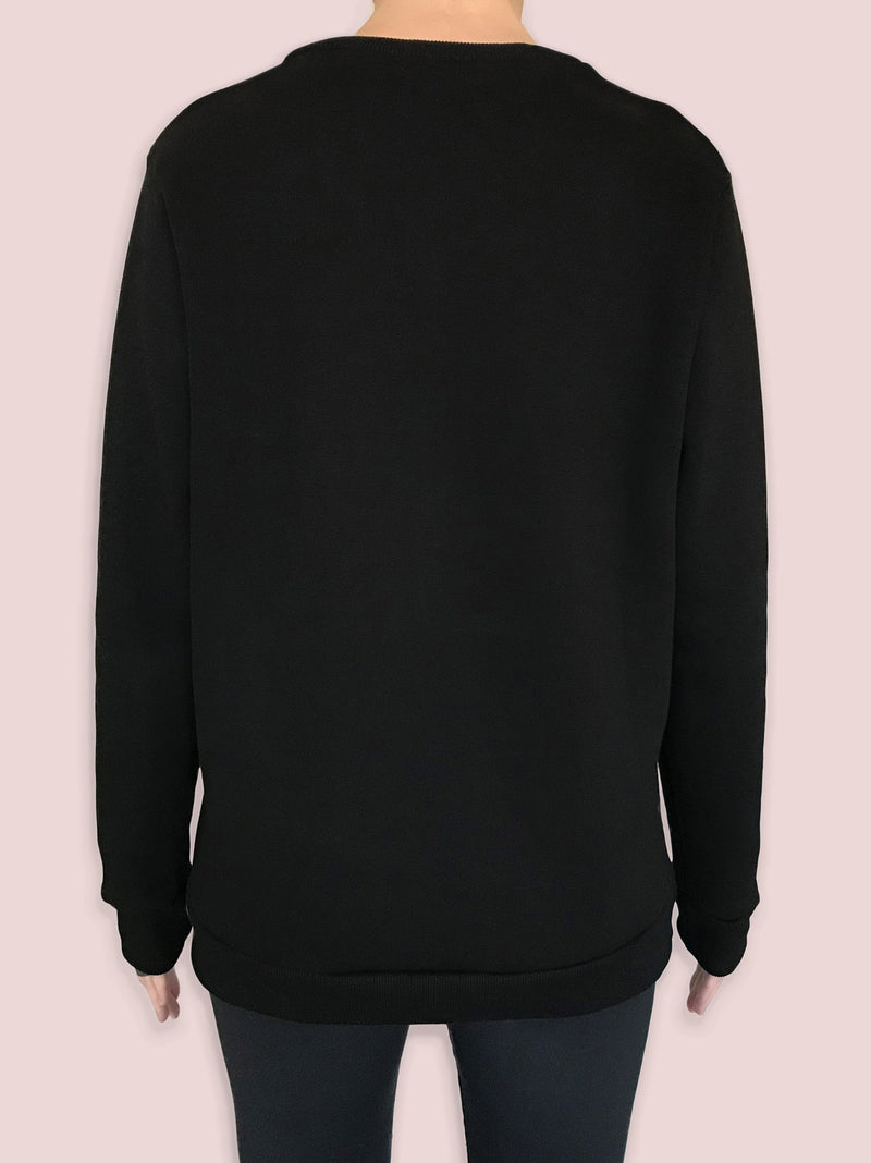 NGNM logo sweatshirt back black