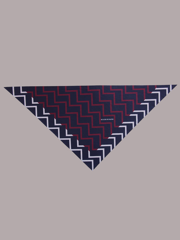 NGNM Winter Foulard blue bordeaux buff neck warmer triangle