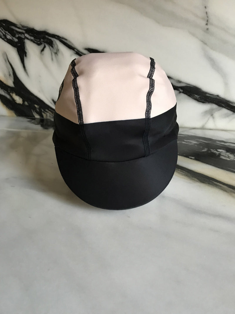 NGNM cycling winter cap thermal powder pink fabric flat stitching