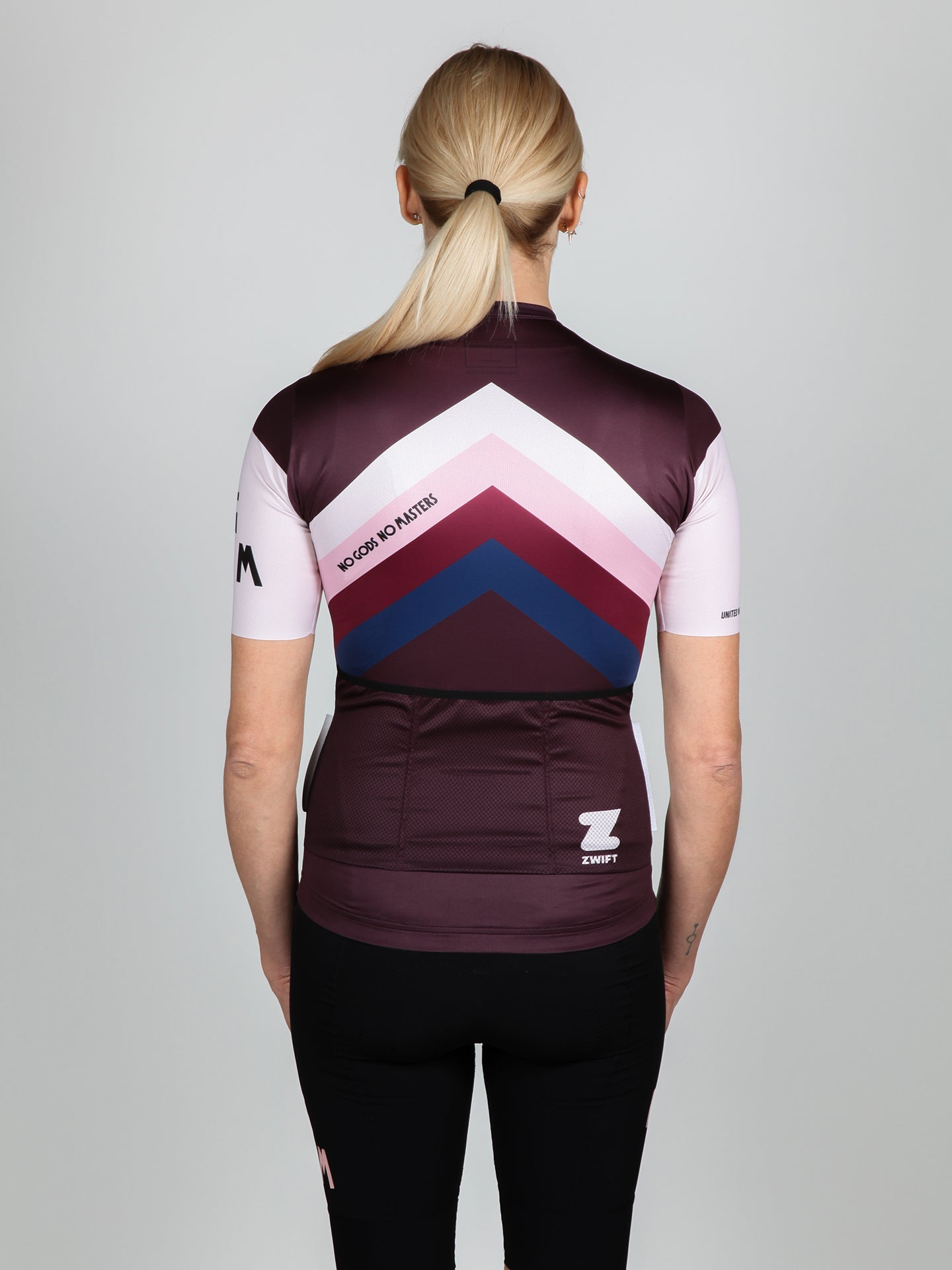 NGNM Jersey cycling ZWIFT aubergine back
