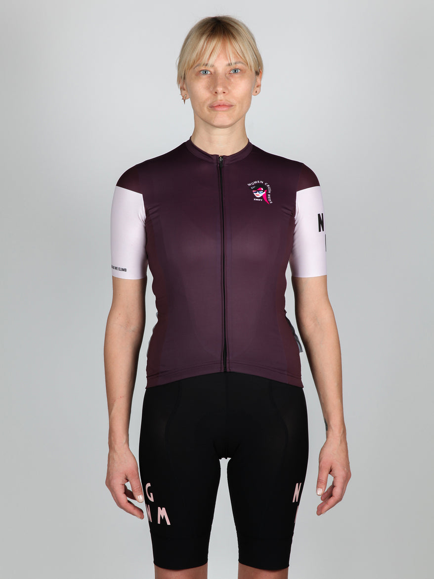 NGNM Jersey Cycling ZWIFT aubergine front