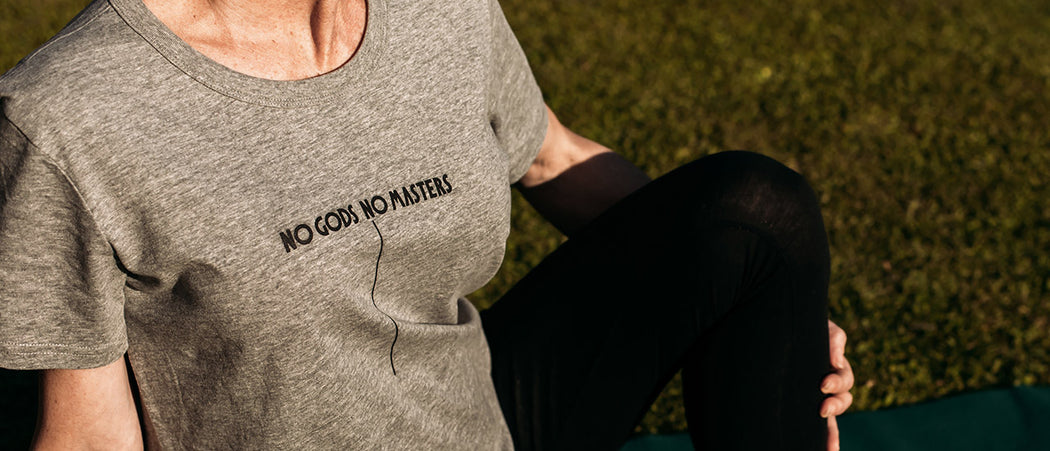 Slider|NGNM Logo T-shirt grey yoga
