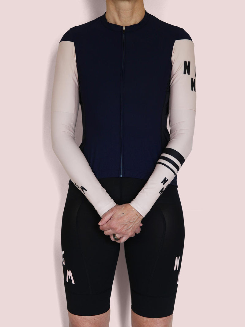 NGNM arm warmers bundle with logo t-shirt