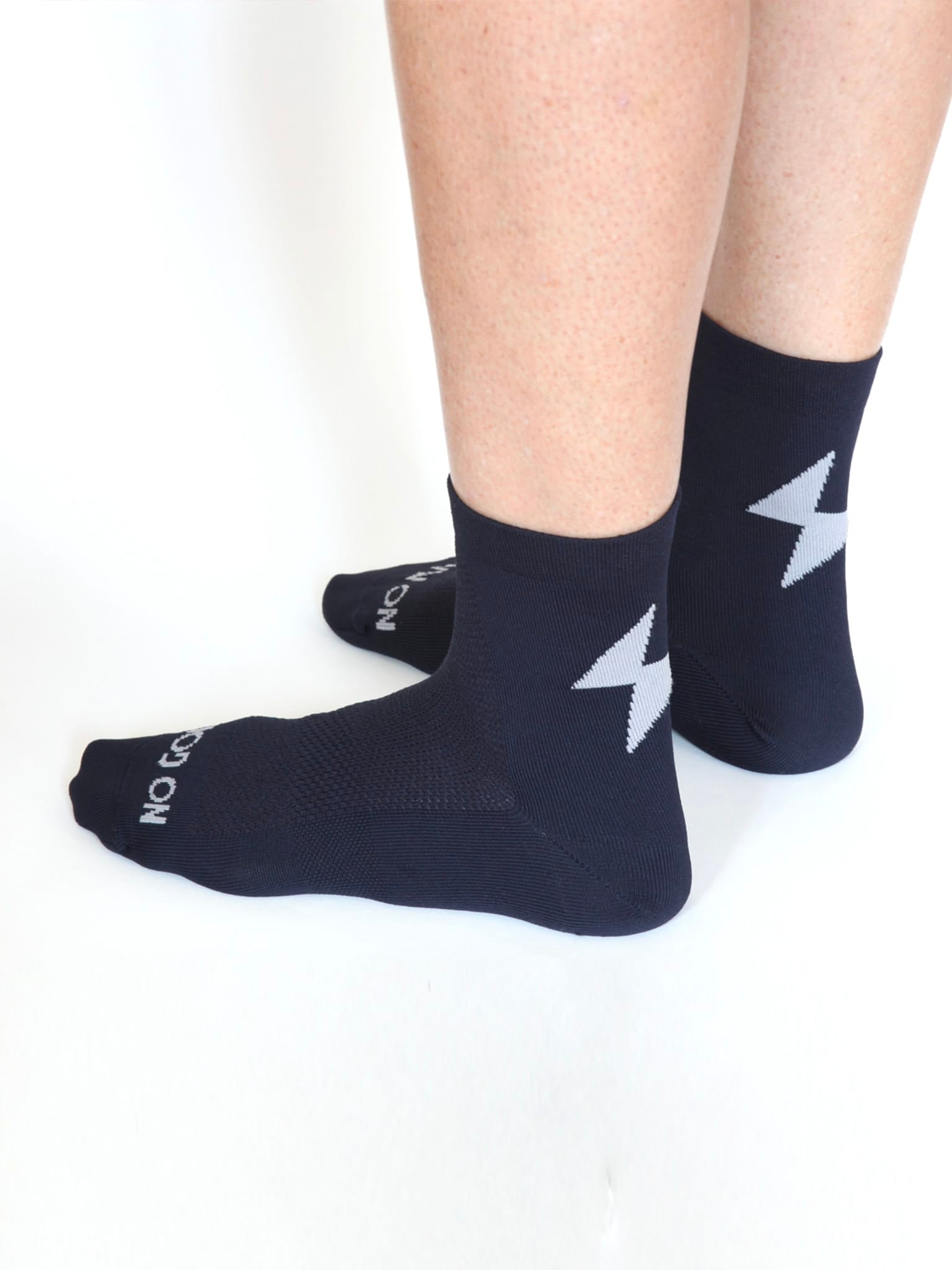 NGNM Power-up cycling socks blue side