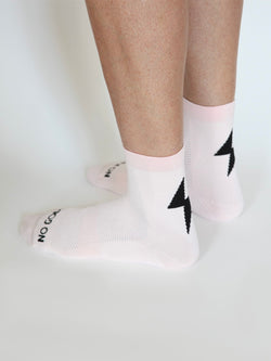 Power-Up Summer Socks - Powder Pink