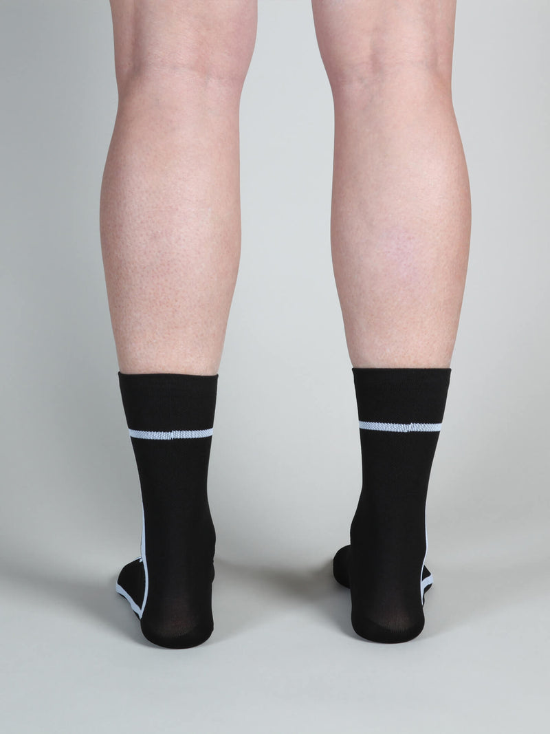 NGNM T-section Air socks black white lines back