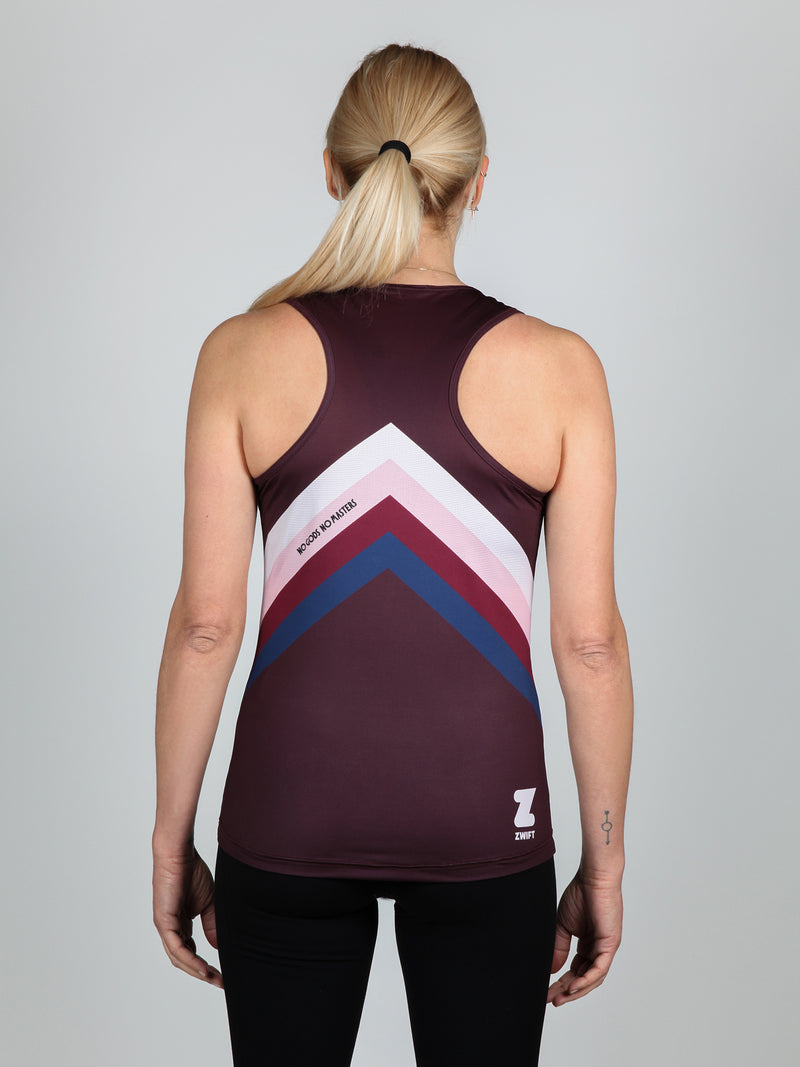 NGNM Tank ZWIFT running top aubergine back