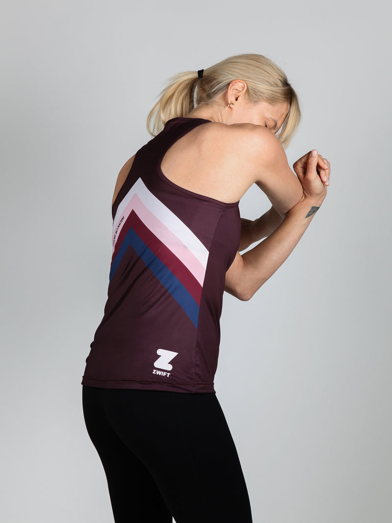 NGNM Tank ZWIFT running top aubergine