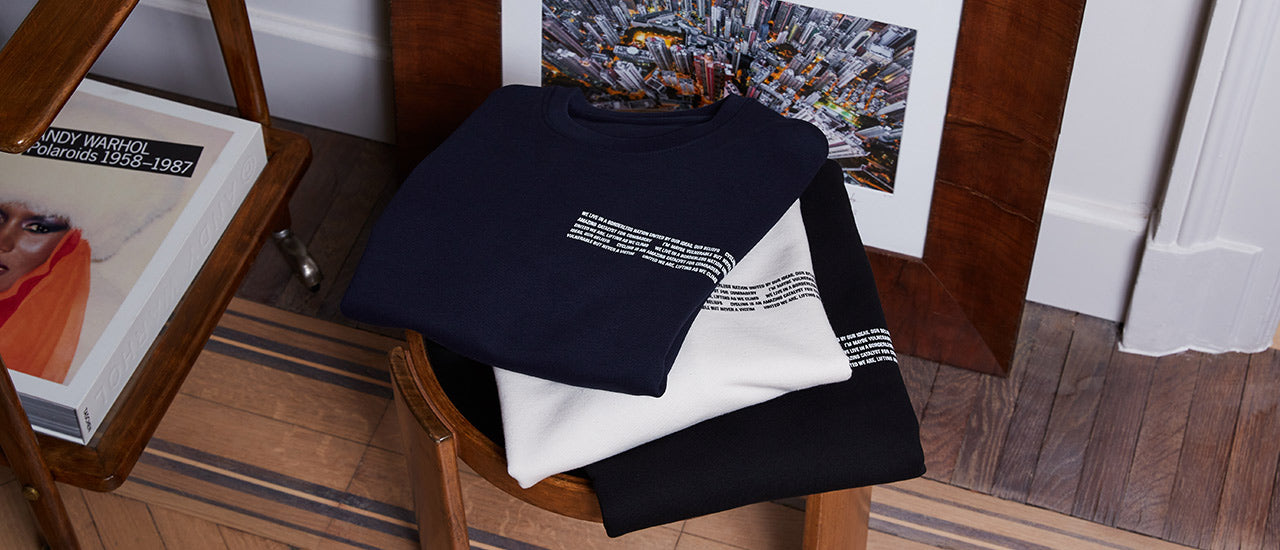 slider|Mantra Sweatshirt blue natural ivory black