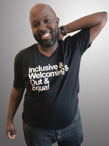 Inclusive & Welcoming & Out & Equal - Black