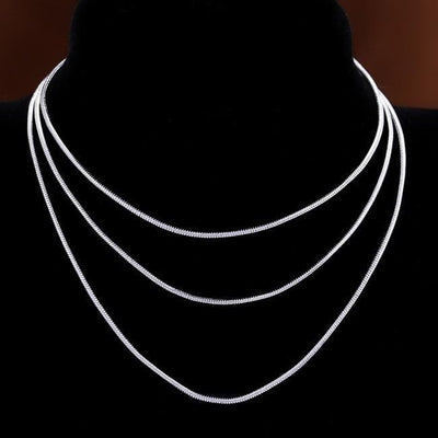 Women's 925 Sterling Silver Snake Chain Necklace
