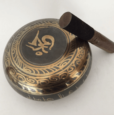 Tibetan Singing Bowl Dark Copper Himalayan Hand-Hammered at HOMAURA®