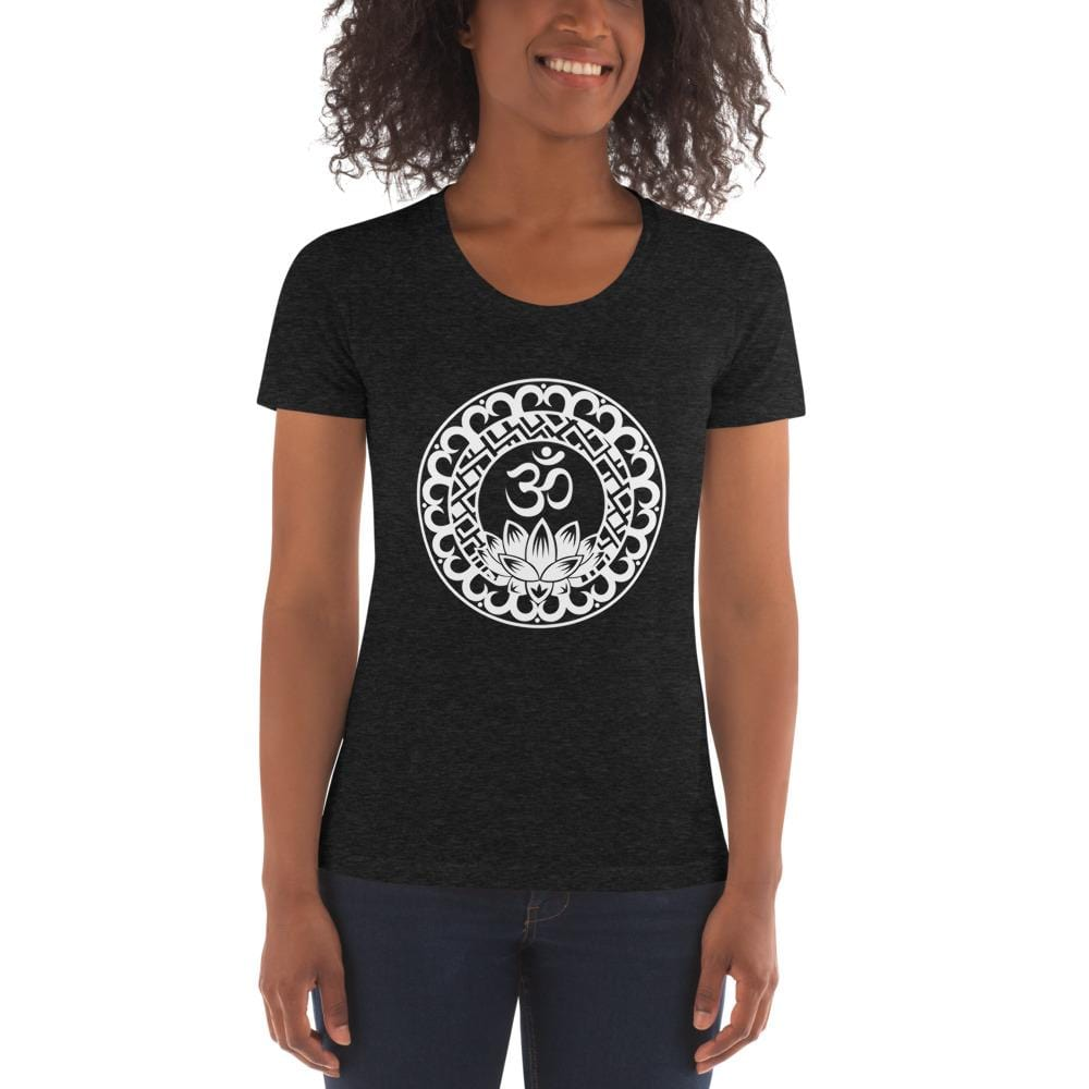 Women's Crew Scoop Neck Lotus Om T-Shirt