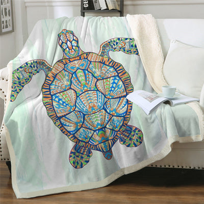 Sea Turtles Fluffy Fleece Throw Blanket - HOMAURA®