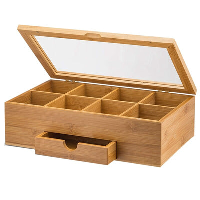 100% Natural Bamboo Wooden Tea Box at HOMAURA®
