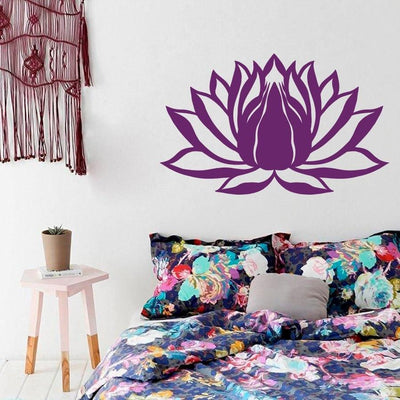 Lotus Flower Vinyl Sticker Decal Wall Art