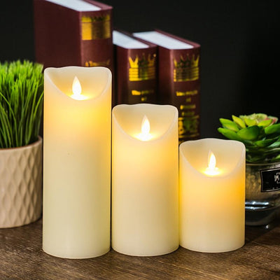 3 pcs Flameless LED Candles Colorful Lights with Remote Control