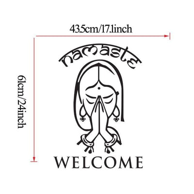 Namaste Welcome Vinyl Decal Stickers Wall Art