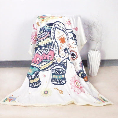 Baby Elephant Fluffy Fleece Blanket