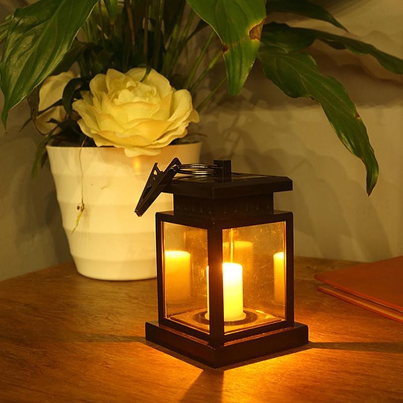 Waterproof LED Solar Outdoor Garden Lamp Flameless Candle Light Media 1 of 12