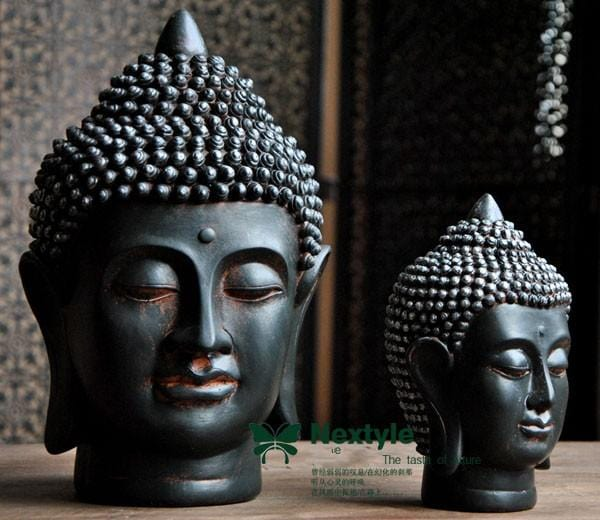 HOMAURA® Buddha Head Figures