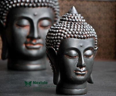 Home Decor Feng Shui Buddha Head Figures