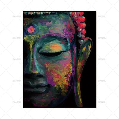 Buddha Head Painting Small