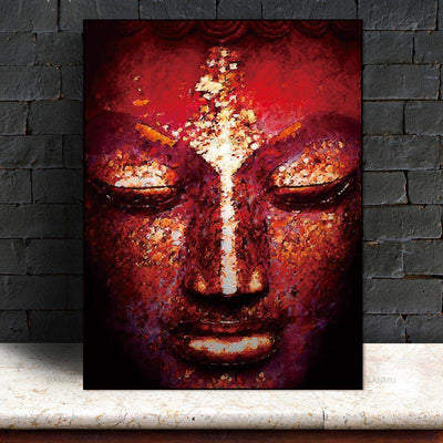 Vivid Buddha Head Painting