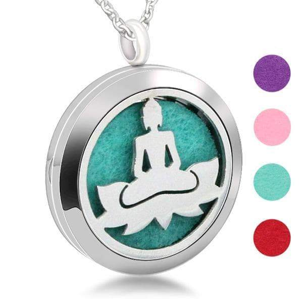 Aromatherapy Essential Oil Necklace Buddha Diffuser Pendant HOMAURA®