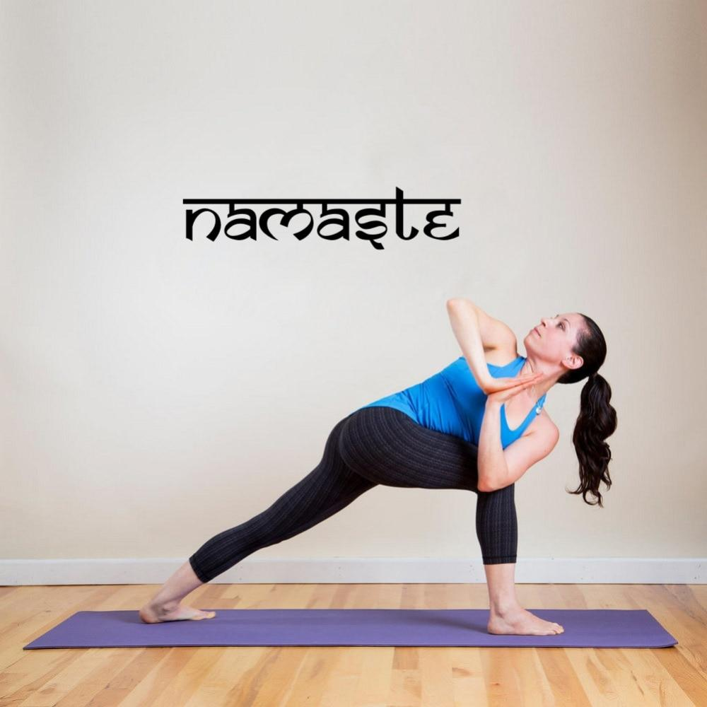 Namaste Yoga Studio Vinyl Sticker Decal Wall Art