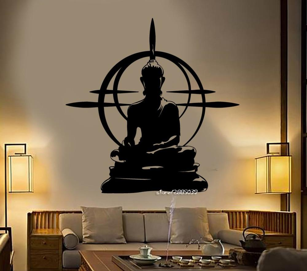 Buddha Chakra Meditation Vinyl Decal Sticker Wall Art
