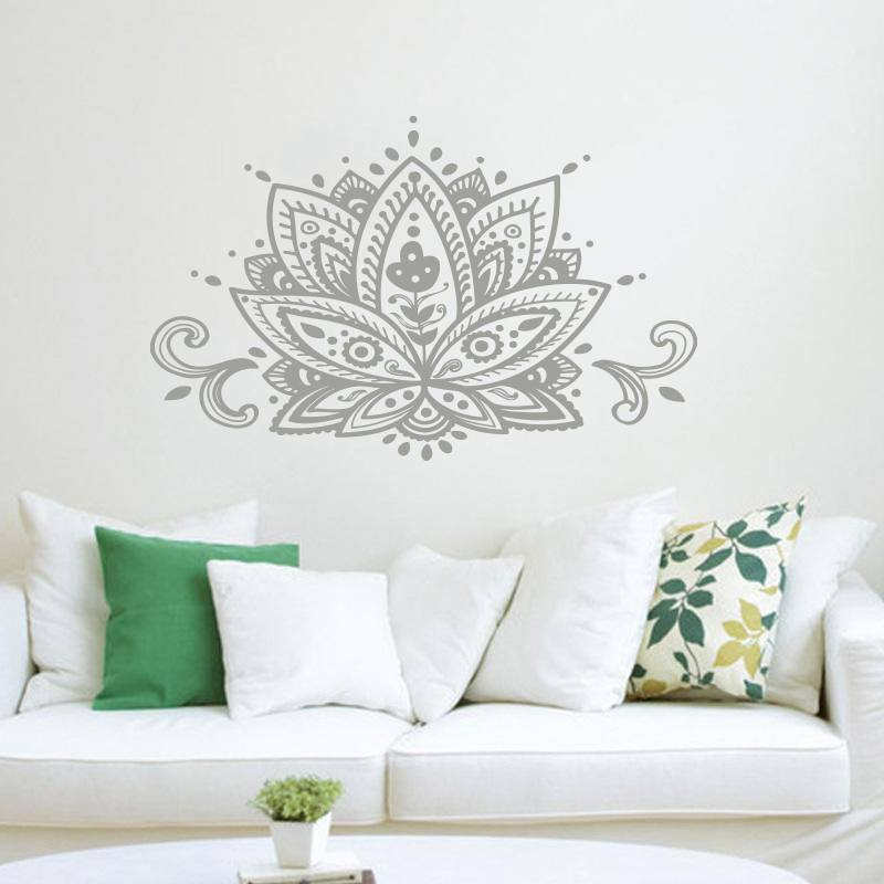 Lotus Flower Wall Art Decal Sticker Namaste Mandala