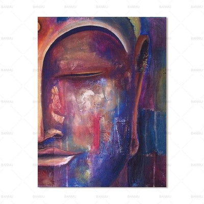Colorful Buddha Wall Art Canvas Painting at HOMAURA®