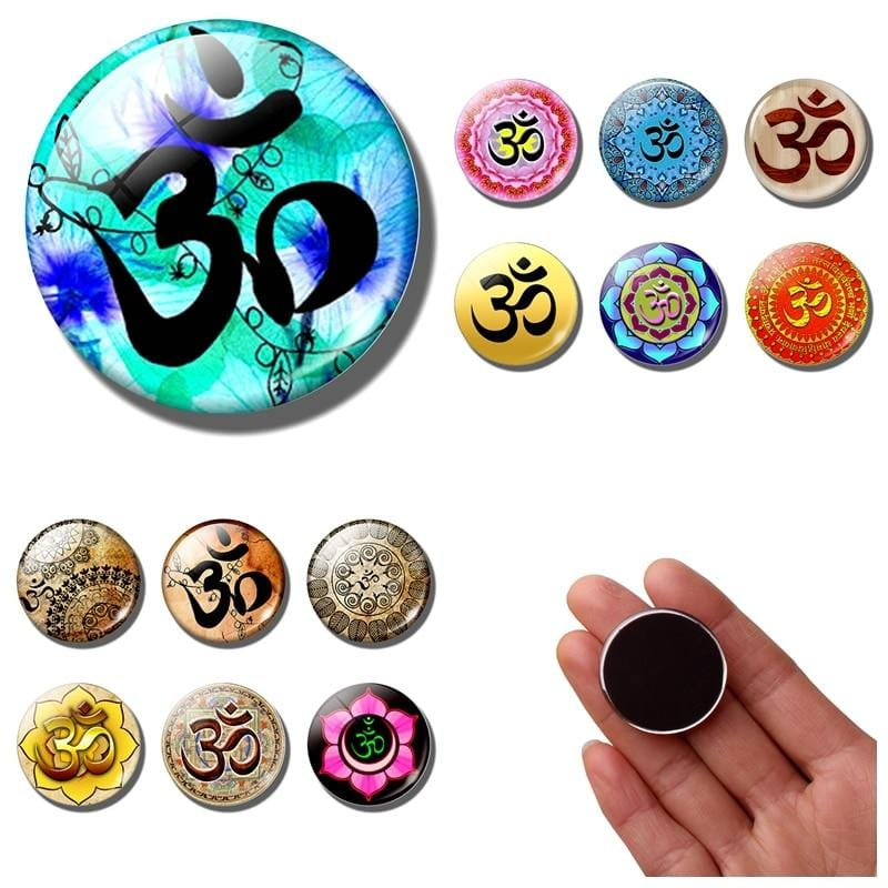 HOMAURA® Refrigerator Magnets Lotus, Om