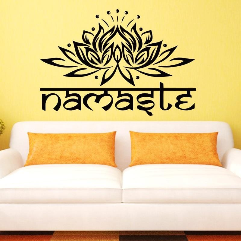 Lotus Flower Namaste Design Vinyl Sticker Wall Art