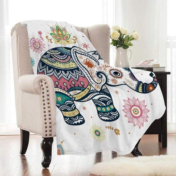 Super Soft Cozy Velvet Plush Baby Elephant Smooth-FLANNEL Throw Blanket
