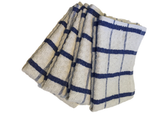 4 x Blue Cotton TEA TOWELS - Extra Large