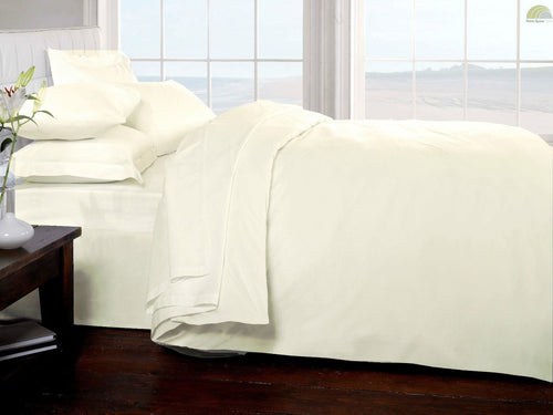 Belle Maison 400 Thread Count 100% Egyptian Cotton Sateen Cream Duvet Cover