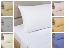 White Percale/Polycotton Flat Sheet  180 TC by Rapport