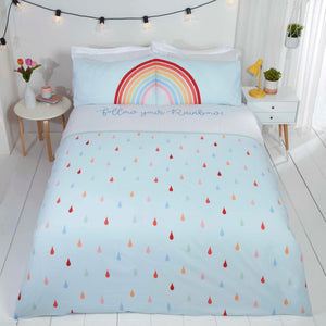 Baby Blue Follow Your Rainbow Duvet Cover Set