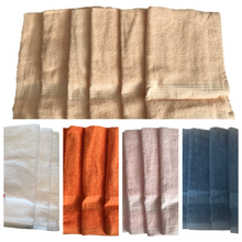 6 x Peach Cotton GUEST TOWELS - 400gsm by Linens Direct