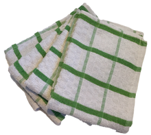 4 x Green Cotton TEA TOWELS - Extra Large