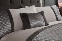 Silver HOLLYWOOD Embroidered Duvet Cover Set by Rapport