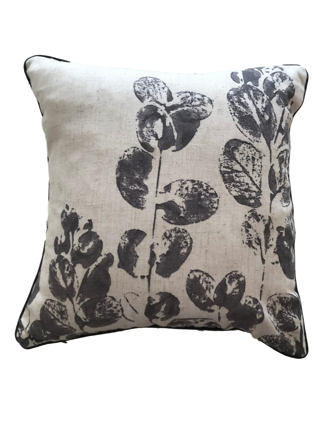 JANA Linen Leaf Print Cushion Cover