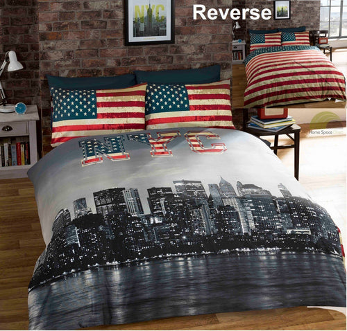 New York City Duvet Cover Set by Rapport